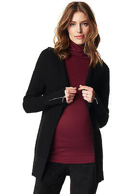 NEW - Esprit - Ribbed Knit Zip Sleeve Maternity Cardigan - Pregnancy Clothes