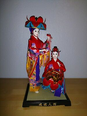 Japanese Doll Okinawa Ryukyu Doll Beautiful Ladies excellent condition