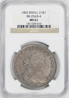 1803 Draped Bust $1 Ngc Ms 61