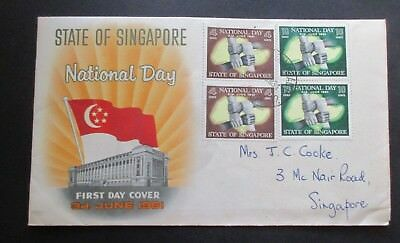 State Of Singapore....national Day 1961...fdc