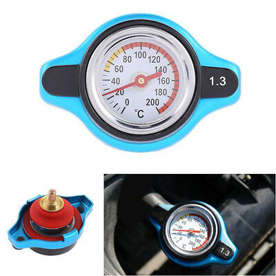 Universal Car Thermost Radiator Cap+Water Temp gauge 1.3 BAR Cover Small Head