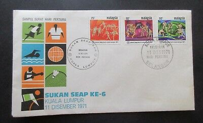Malaysia ..1971  Seap...south East Asia Games Cover....