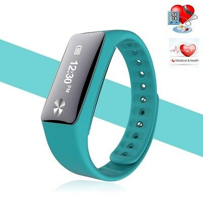 (Green) - Bluetooth Smart Bracelet Heart Rate Monitor Pedometer Sports