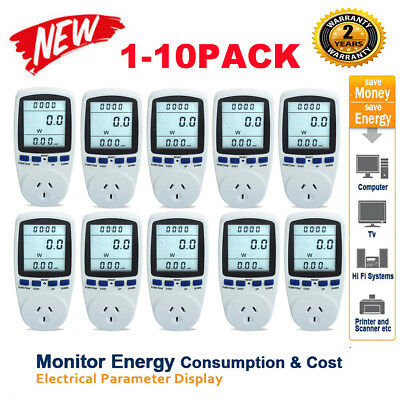 10x AU Plug Power Energy Consumption Watt Meter Electricity Usage Monitor Socket