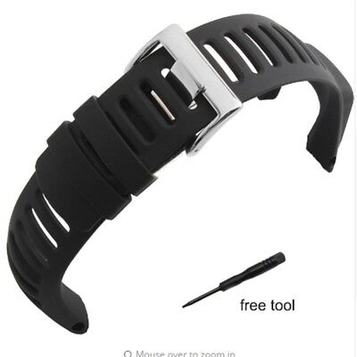 Watch Band Strap,Amytalk Soft Black Rubber Replacement Watch Band Strap For