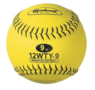 (210ml, Optic Yellow) - Markwort Lite Weight and Weighted Leather Softball