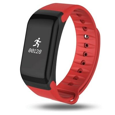 (Red) - Smart Bracelet B30 Activity Tracker with Heart Rate Monitor, Fitness