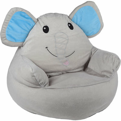 kinder sitzsack sessel sitzkissen sitz sack kissen bodenkissen grau elefant eur 38 90. Black Bedroom Furniture Sets. Home Design Ideas