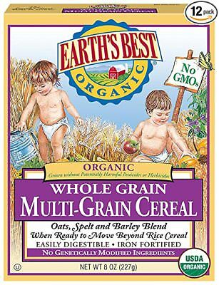 Earth's Best Organic, Whole Grain Multi-Grain Cereal, 8 Ounce (Pack of 12) 03/19