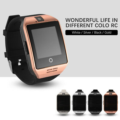 Q18 Bluetooth Smart Watch Phone with Camera SIM Slot for Android iOS Smartphones
