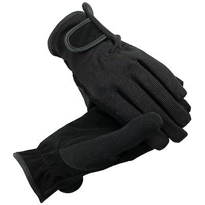 (Large, Black) - HorZe Multi-Stretch Riding Gloves. Shipping Included