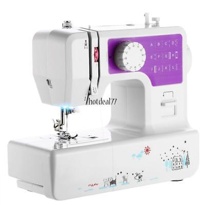 Portable 2Speed Sewing Machine Heavy Duty w/12 Built-in Stitches and Accessories
