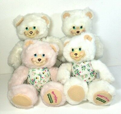 Fisher Price Briarberry bear plush soft toy dolls Bulk Vintage 1998 1990s Flawed