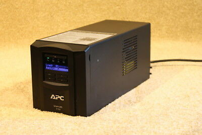 APC SMT 750 tower (Black) with LCD screen --brand new batteries-- 12m RTB wty.