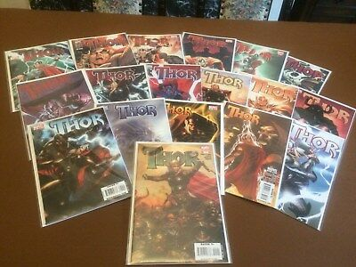 Marvel Comics. Thor Issues 1 - 12 and 600 - 604. Includes rare variant #1