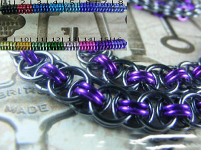 Chainmaille BDSM Gorean Slave Collar Choker Necklace Black Pearl Base