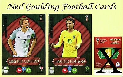 PANINI WORLD CUP 2018 ☆☆☆☆☆ LIMITED EDITION ☆☆☆☆☆ XXL Football Cards