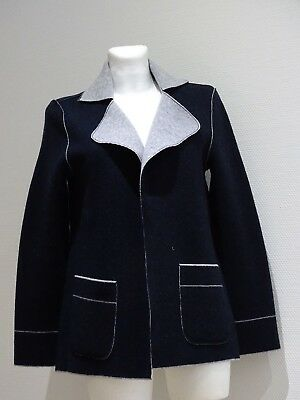 Georg Maier, Damen Strick Blazer, dunkel blau, Top Qualität, Made in Germany