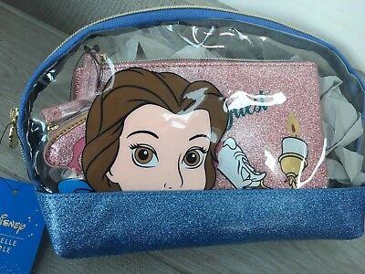 Danielle Nicole Disney Beauty & The Beast Cosmetic Case Set Purse / Brand new