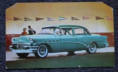 Vintage 1956 Buick Super advertising post card; fair condition