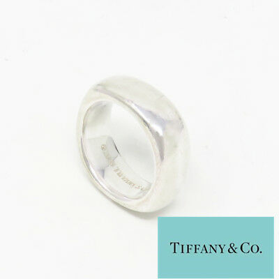 NYJEWEL Tiffany & Co. 925 Sterling Silver 2003 8mm Wide Square Wedding Band Ring