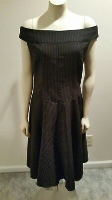 697b24cf Morbid Threads black & pink pinstripe party dress with crinoline VLV with  tags