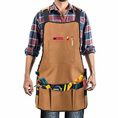 Work Apron, Heavy Duty Oxford Canvas Shop Pockets Multiple Organize Your Tools