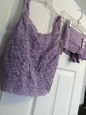 Lace Camisole and Boy Short NEW Lavender M