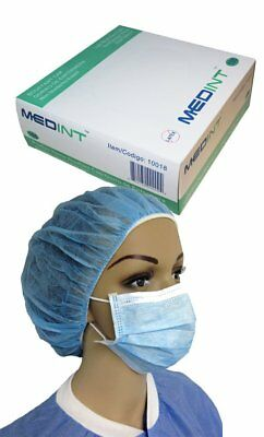 Medint Bouffant Caps, Disposable, Foodservice, Nurse Cap, Hair Nets (Box of 100)