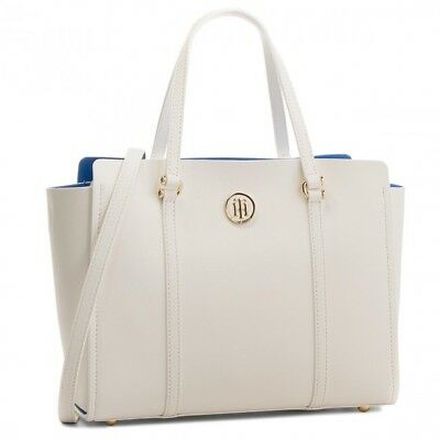Donna Tommy Borsa Hilfiger Modern Tote Tommy Bright Aw0Aw04977905 White Small w0atcZx
