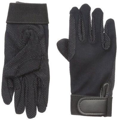 (Large) - Perri's Child Cotton Gloves, Black. Shipping Included
