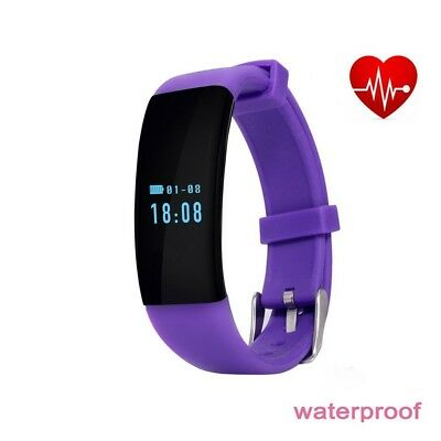 (Purple) - Fitness Tracker Metal Smart Watch D21 Bluetooth 4.0 Pulse Heart