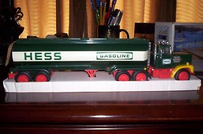1984 Nm Hess Truck, With Rare Black Switch, Box, And All Inserts, Plus Bank Card