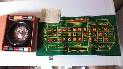 Vintage 1941 LOWE Metal Roulette Game with Metal Ball