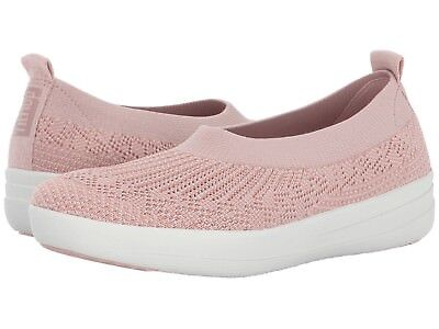 c7572e68dbad Fitflop Women s Uberknit Slip On Ballerina Flat Knit Sneakers Blush Sizes  6.5-11