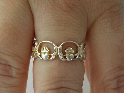 Unusual Silver Claddagh Ring Metal Detecting Find