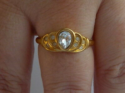 Lovely Clear Stone Ring Metal Detecting Find