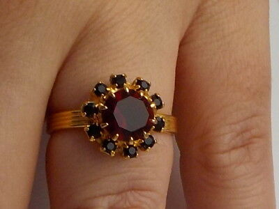 Dress Ring With Red Stones Metal Detecting Find
