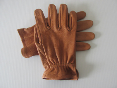 Men's Saddle Brown American Buffalo Leather Work Gloves - Made in the USA