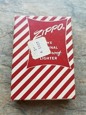 Zippo Empty, Red Candy Striped Box - 1950's-1960's