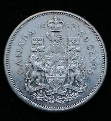 1963 50C Canada Silver 50 Cents