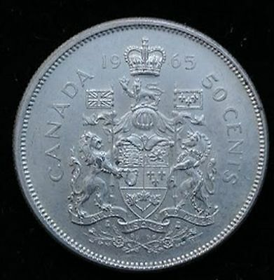 1965 50C Canada Silver 50 Cents