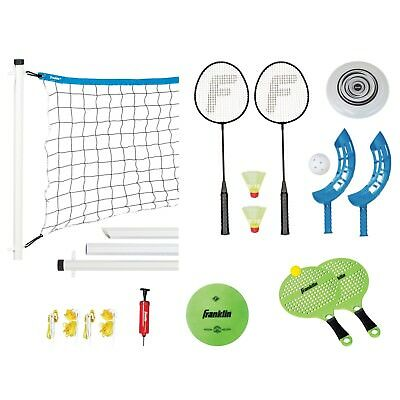 Badminton Racket Set Volleyball Kit Sports Games For Kids Adults Freesbie Disc