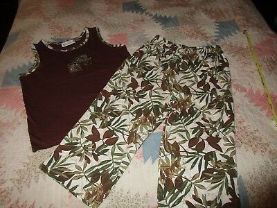 """Women's Capri Outfit. sz. Lg. by Shenanigans. """"worn once"""""""