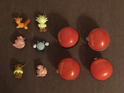 Pokemon Sammelfiguren 6 Stück + 4 Pokebälle Figuren 1. Generation Pokeball