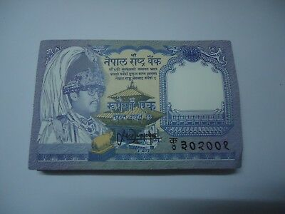 NEPAL 1 Rupee X 100 PCS, Full Bundle, 1991, P-37 GEM UNC 2