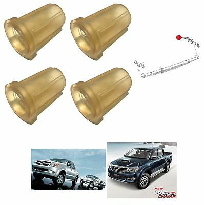 4 Rear Leaf Spring End Bushing Polyurethane For 2004-2015 Toyota Hilux Pickup