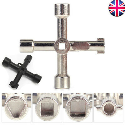 5 in 1 Multifunction Cross Switch Key Wrench Multi Square Triangle Screwdriver #