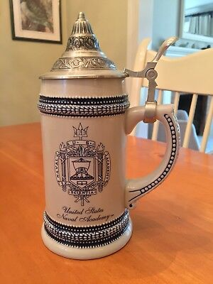 United States Naval Academy Lidded Beer Stein