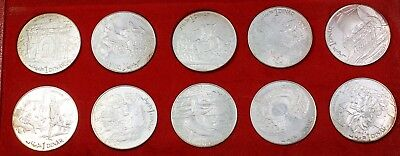 1969 Republic of Tunisia 10 Gem Proof Coins Hannibal Commemorative Set